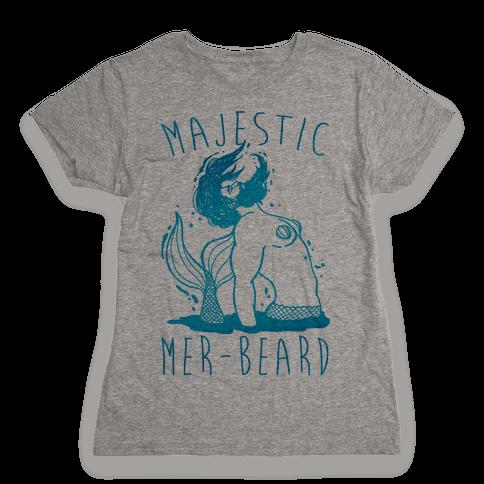 Majestic Mer-Beard Womens T-Shirt