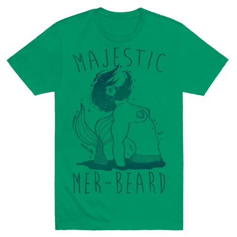 Majestic Mer-Beard Mens T-Shirt
