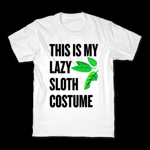 Lazy Sloth Costume Kids T-Shirt