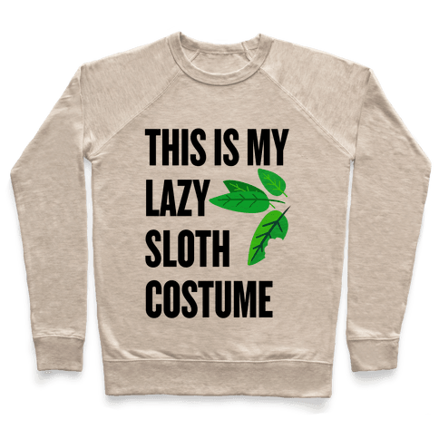 Lazy Sloth Costume Pullover