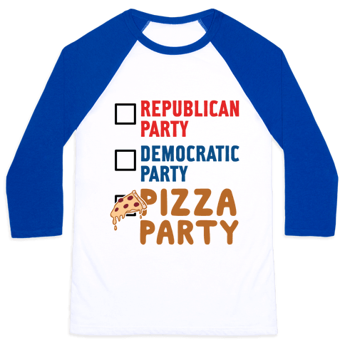 Pizza Party Baseball Tee
