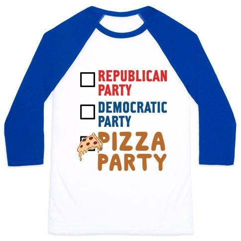 Pizza Party Baseball Tee