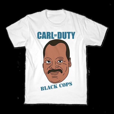 Carl Of Duty: Black Cops Kids T-Shirt