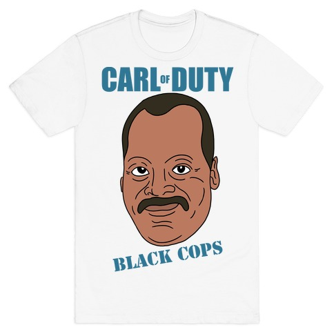 Carl Of Duty: Black Cops Mens T-Shirt