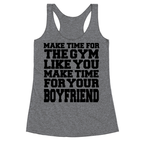 Make Time for the Gym Racerback Tank Top