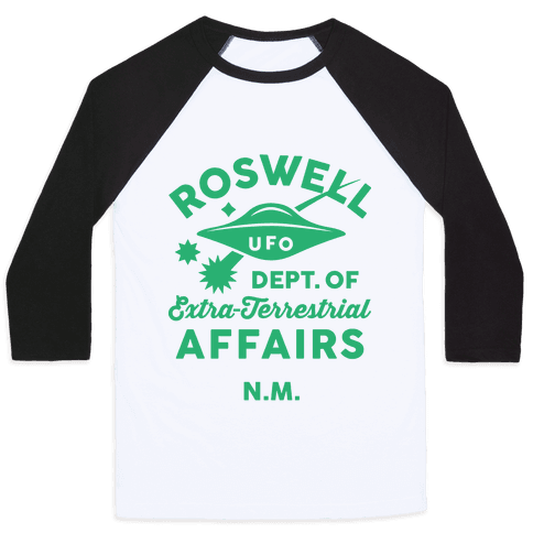 Roswell Department Of Extra-Terrestrial Affairs Baseball Tee