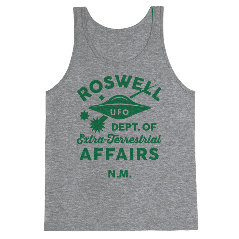 Roswell Department Of Extra-Terrestrial Affairs Tank Top