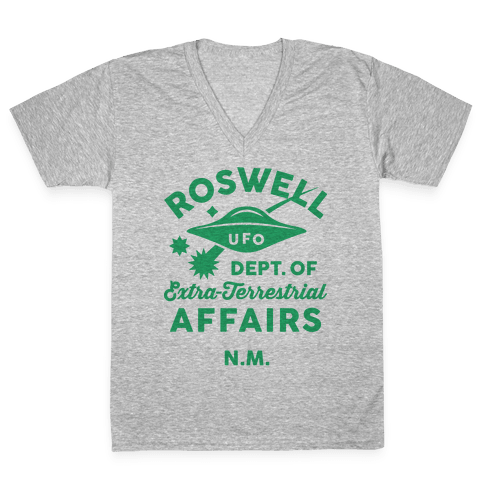 Roswell Department Of Extra-Terrestrial Affairs V-Neck Tee Shirt
