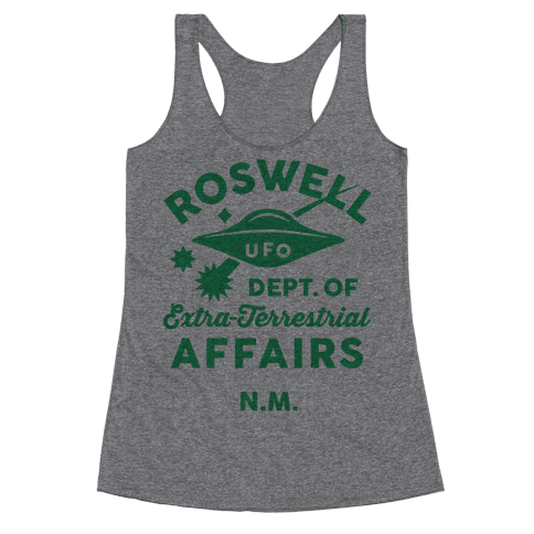 Roswell Department Of Extra-Terrestrial Affairs Racerback Tank Top