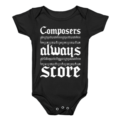 Composers Baby Onesy