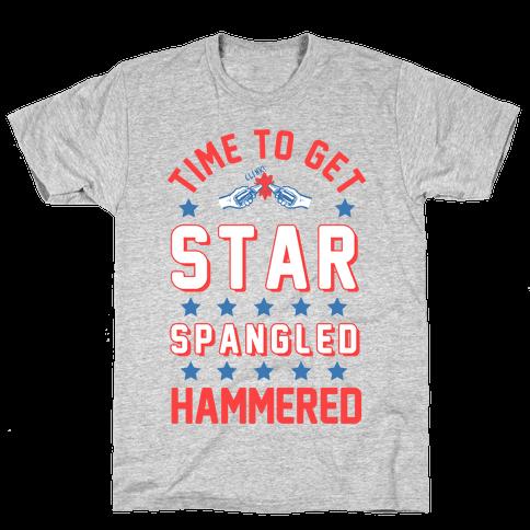 Star Spangled Hammered (crewneck) Mens T-Shirt