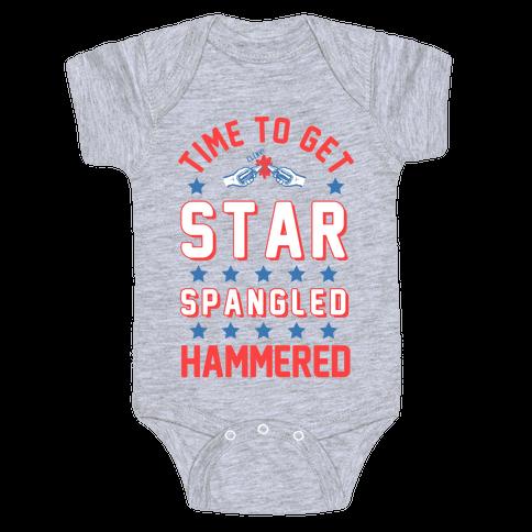 Star Spangled Hammered (crewneck) Baby Onesy