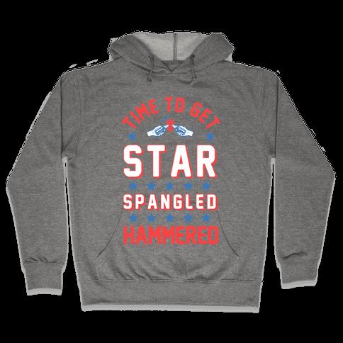 Star Spangled Hammered (crewneck) Hooded Sweatshirt