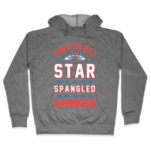 Star Spangled Hammered (crewneck) Hooded Sweatshirt
