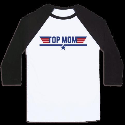 Top Mom Baseball Tee