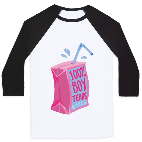 100% Boy Tears Baseball Tee