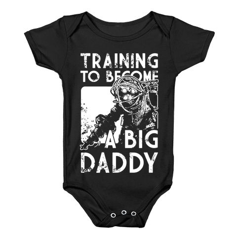 Training To Become A Big Daddy Baby Onesy
