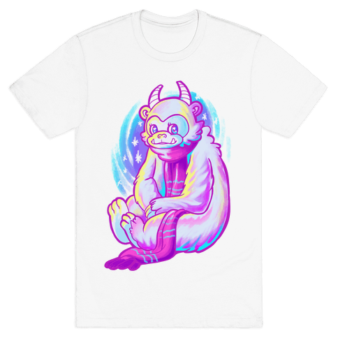 Neon Rainbow Yeti Mens T-Shirt