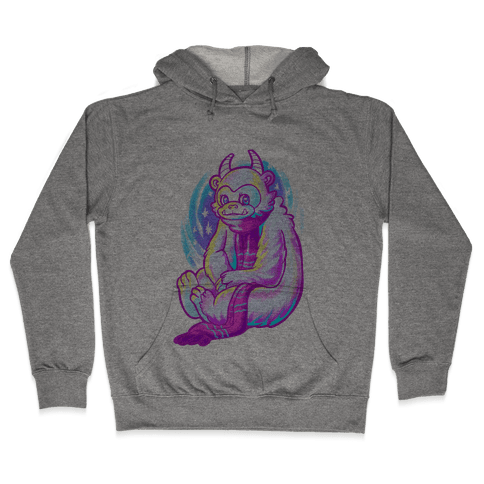 Neon Rainbow Yeti Hooded Sweatshirt