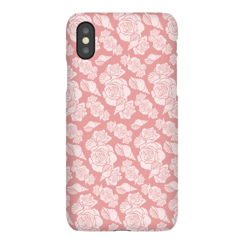 Deep Sea Floral and Shell Pattern Phone Case