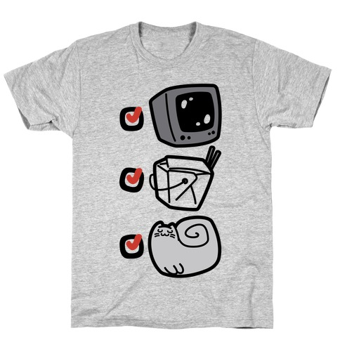 Tv Takeout Cat T-Shirt
