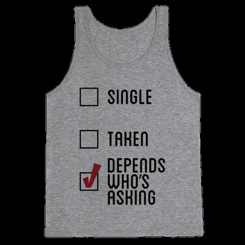 Depends Tank Tank Top