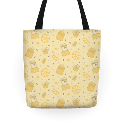 Vintage Inspired Summer Lemonade Stand Pattern Tote