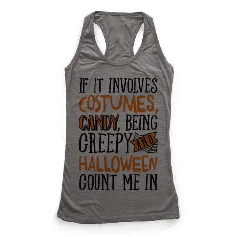 Halloween Count Me In Racerback Tank Top