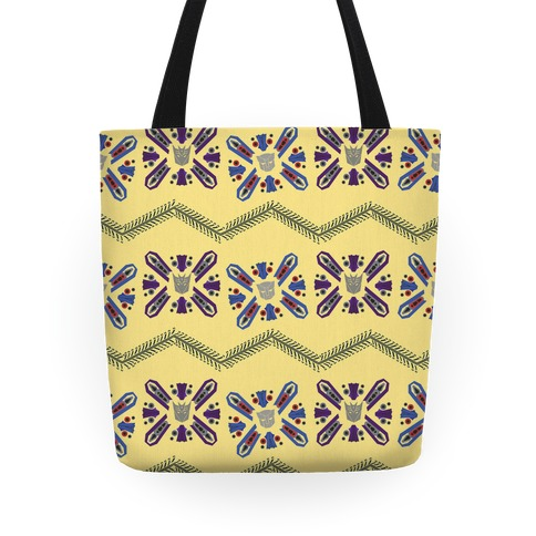 Floral Transformers Pattern Tote