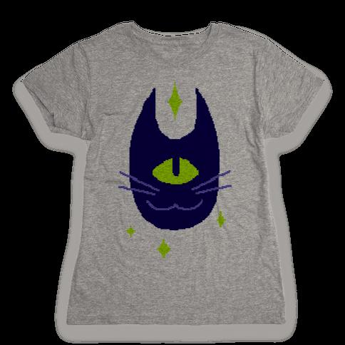 Pixel Cyclops Cat Womens T-Shirt