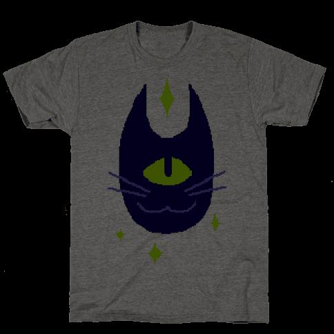 Pixel Cyclops Cat Mens T-Shirt