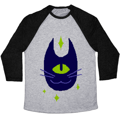 Pixel Cyclops Cat Baseball Tee