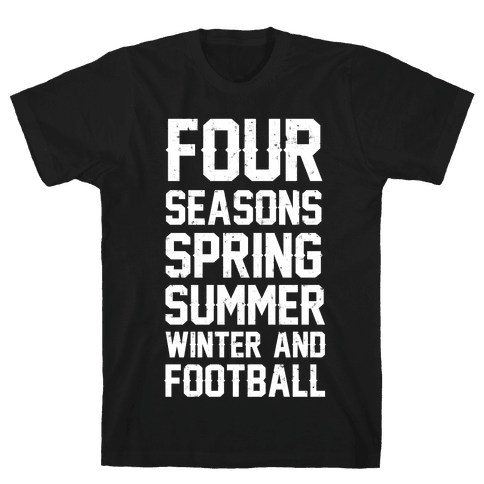 Four Seasons Spring Summer Winter And Football Mens T-Shirt
