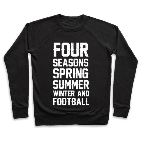 Four Seasons Spring Summer Winter And Football Pullover