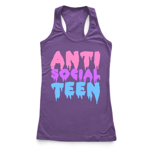 Anti Social Teen Racerback Tank Top
