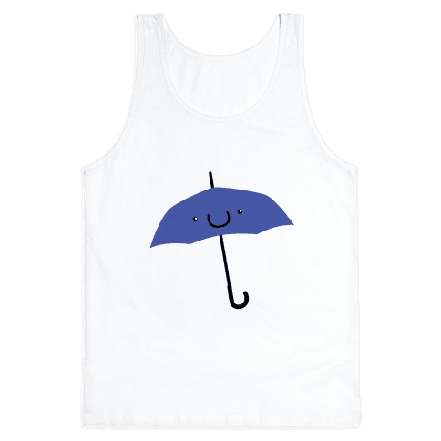 Blue Umbrella Tank Top