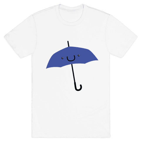 Blue Umbrella Mens T-Shirt