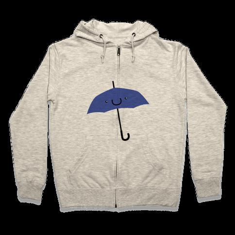 Blue Umbrella Zip Hoodie