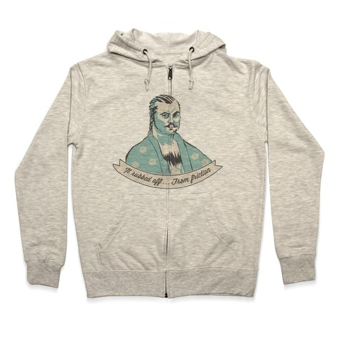 Ron Swanson: It Rubbed Off Zip Hoodie