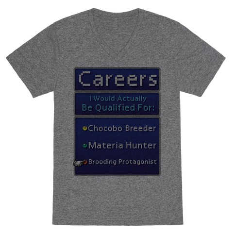 Careers I Would Actually Be Qualified For: Chocobo Breeder V-Neck Tee Shirt