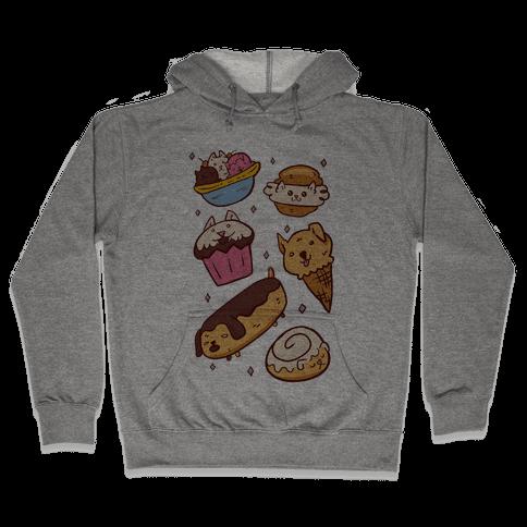 Kawaii Food Dogs Hooded Sweatshirt