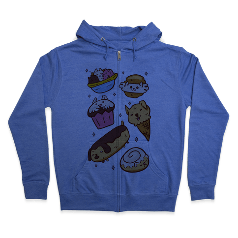 Kawaii Food Dogs Zip Hoodie