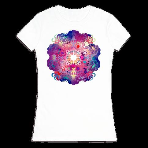 Colorful Yoga Tee Womens T-Shirt