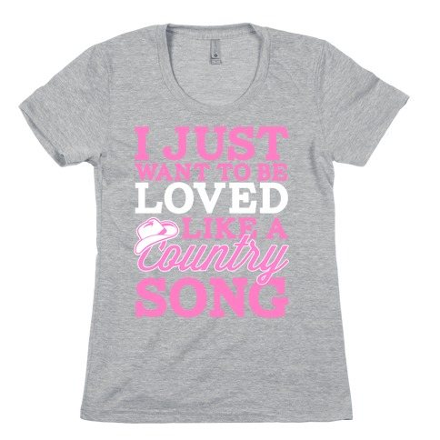 Country Song Love Womens T-Shirt