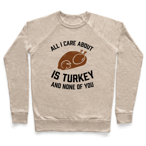 All I Care About Is Turkey And None Of You Pullover