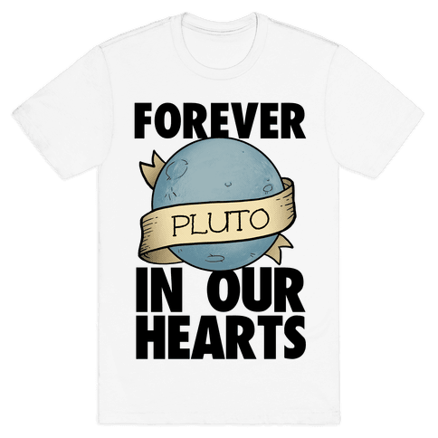 Pluto: Forever in our Hearts Mens T-Shirt