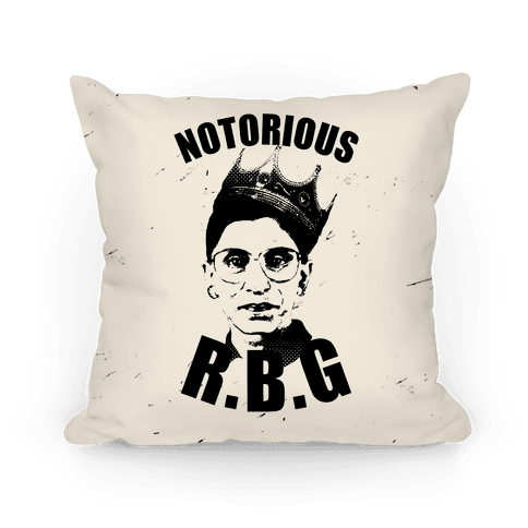 Notorious R.B.G. Pillow
