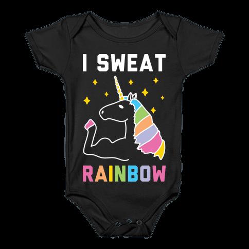 I Sweat Rainbow - Unicorn Baby Onesy