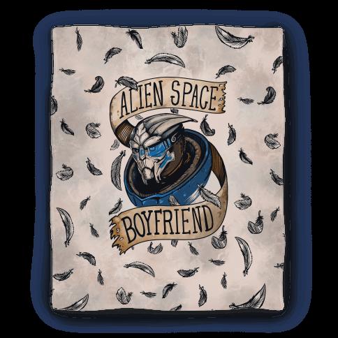 Alien Space Boyfriend Garrus Parody Blanket