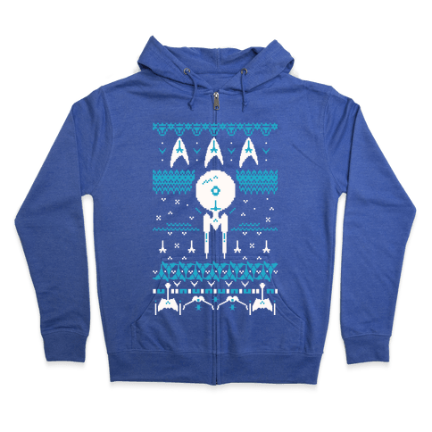 Captain's Ugly Sweater Zip Hoodie